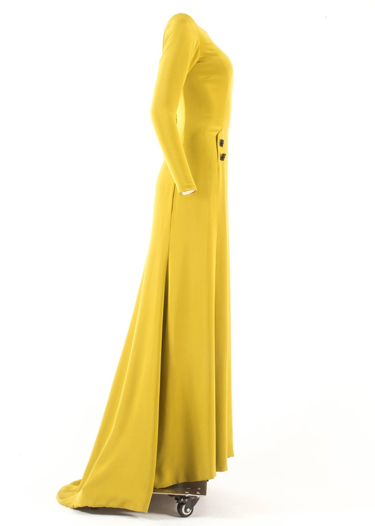 Gerald Watelet Autumn-Winter 2003 Couture evening dress with thigh high slits For Sale 1
