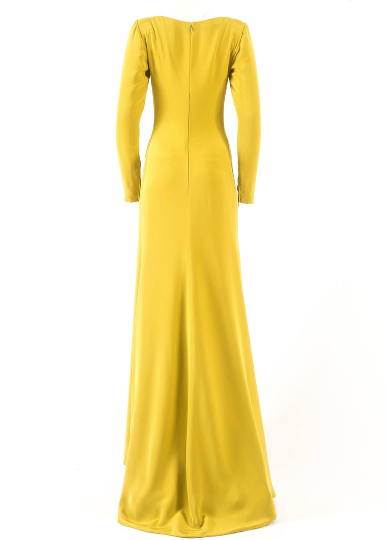 Gerald Watelet Autumn-Winter 2003 Couture evening dress with thigh high slits For Sale 2