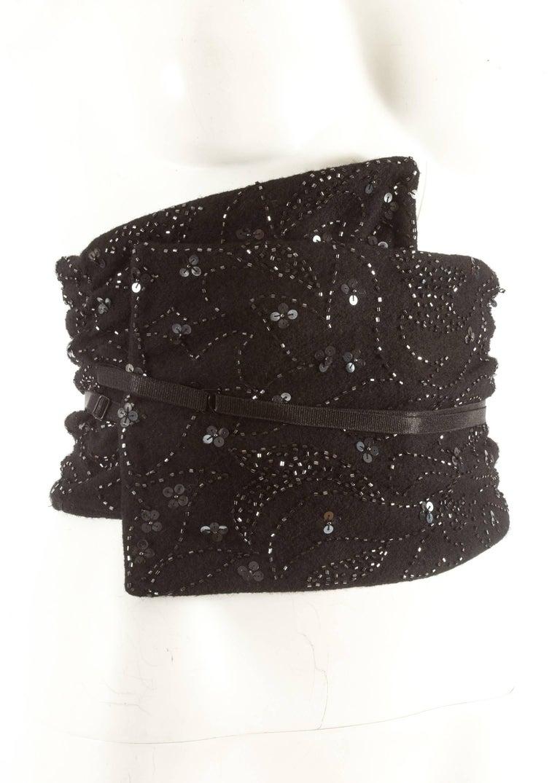 Dolce & Gabbana Spring-Summer 1999 embellished evening pants and corseted obi belt with wrap design, and adjustable strap