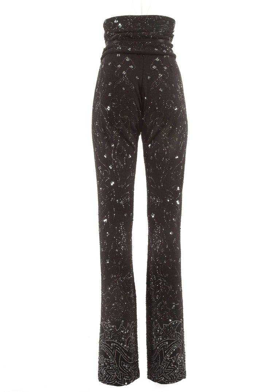 Dolce & Gabbana Spring-Summer1999embellished evening pants and corseted obi belt For Sale 1