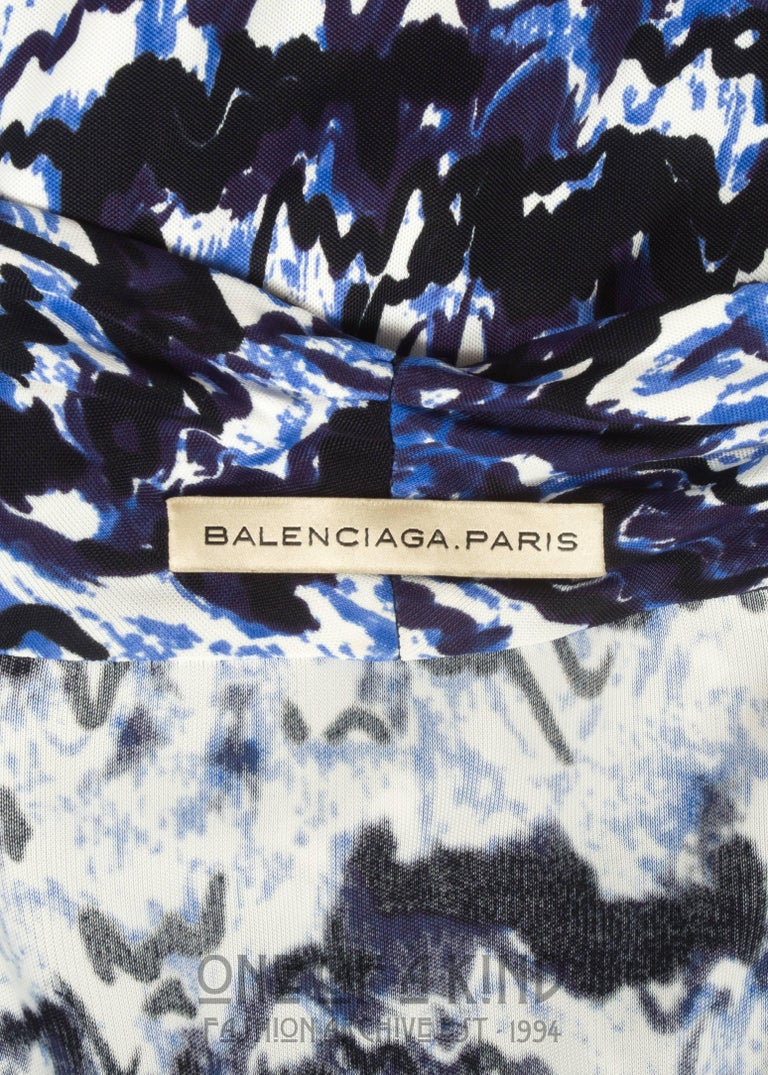 Balenciaga by Nicolas Ghesquière rayon jersey cocktail dress, Autumn-Winter 2009 For Sale 3