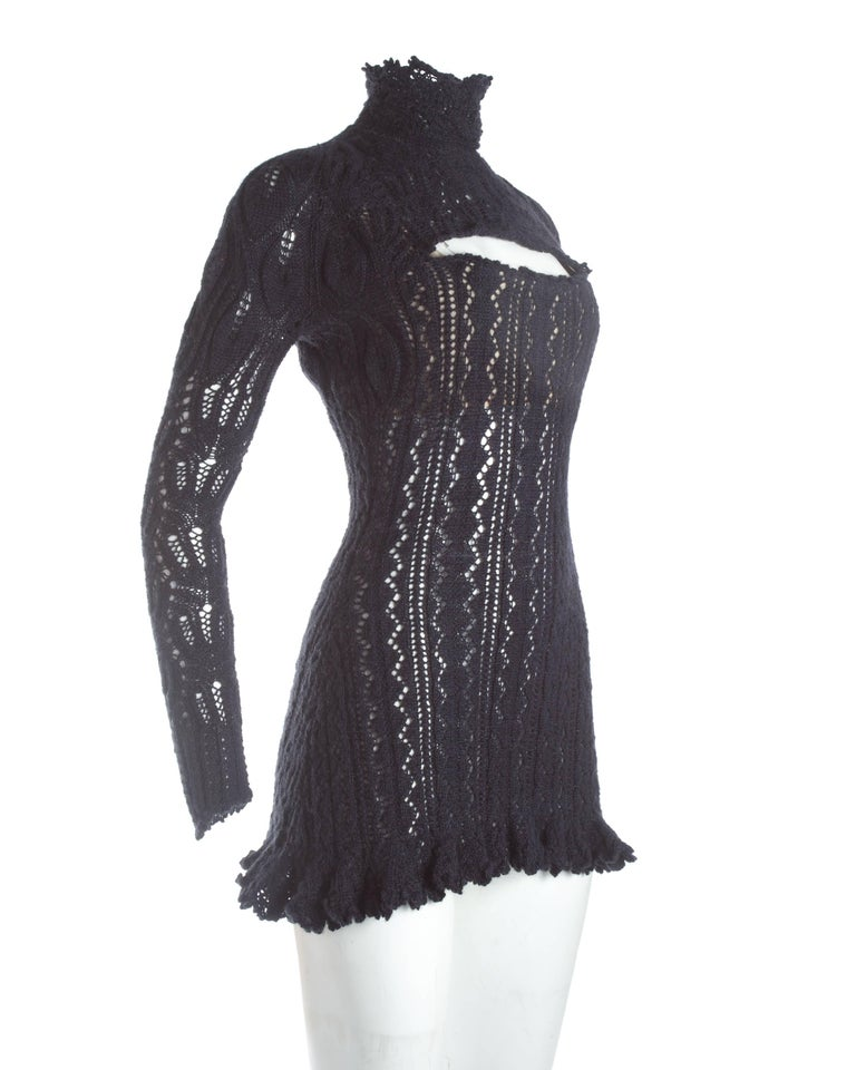 Vivienne Westwood knitted mini dress with internal corset, A / W 1993 In Excellent Condition For Sale In London, GB