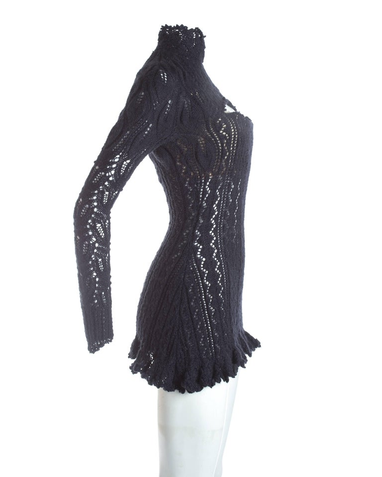 Women's Vivienne Westwood knitted mini dress with internal corset, A / W 1993 For Sale