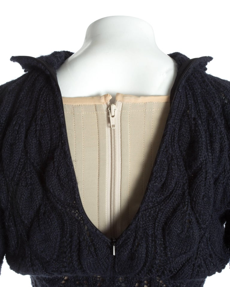 Vivienne Westwood knitted mini dress with internal corset, A / W 1993 For Sale 3