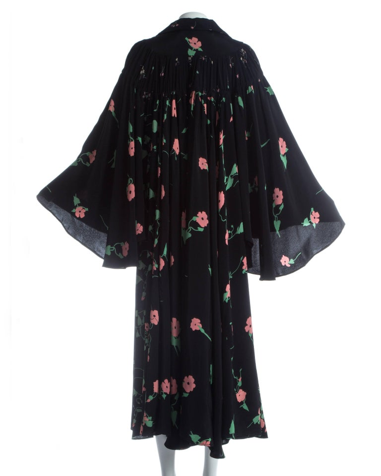 Ossie Clark angel sleeve gown with
