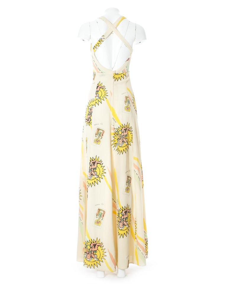 Ossie Clark for Quorum, ivory moss crepe maxi dress, c. 1965-9 In Excellent Condition In London, GB