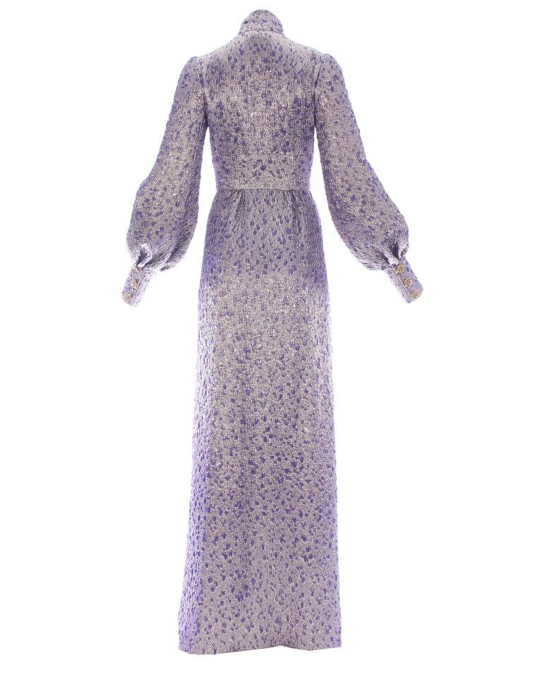 Jean Louis Scherrer haute couture purple lame brocade evening gown, f/w 2005 For Sale 1
