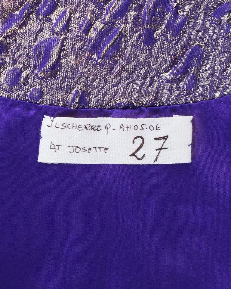 Jean Louis Scherrer haute couture purple lame brocade evening gown, f/w 2005 For Sale 4