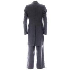 Raf Simons Autumn Winter 1999 Grey Mens Suit Ensemble