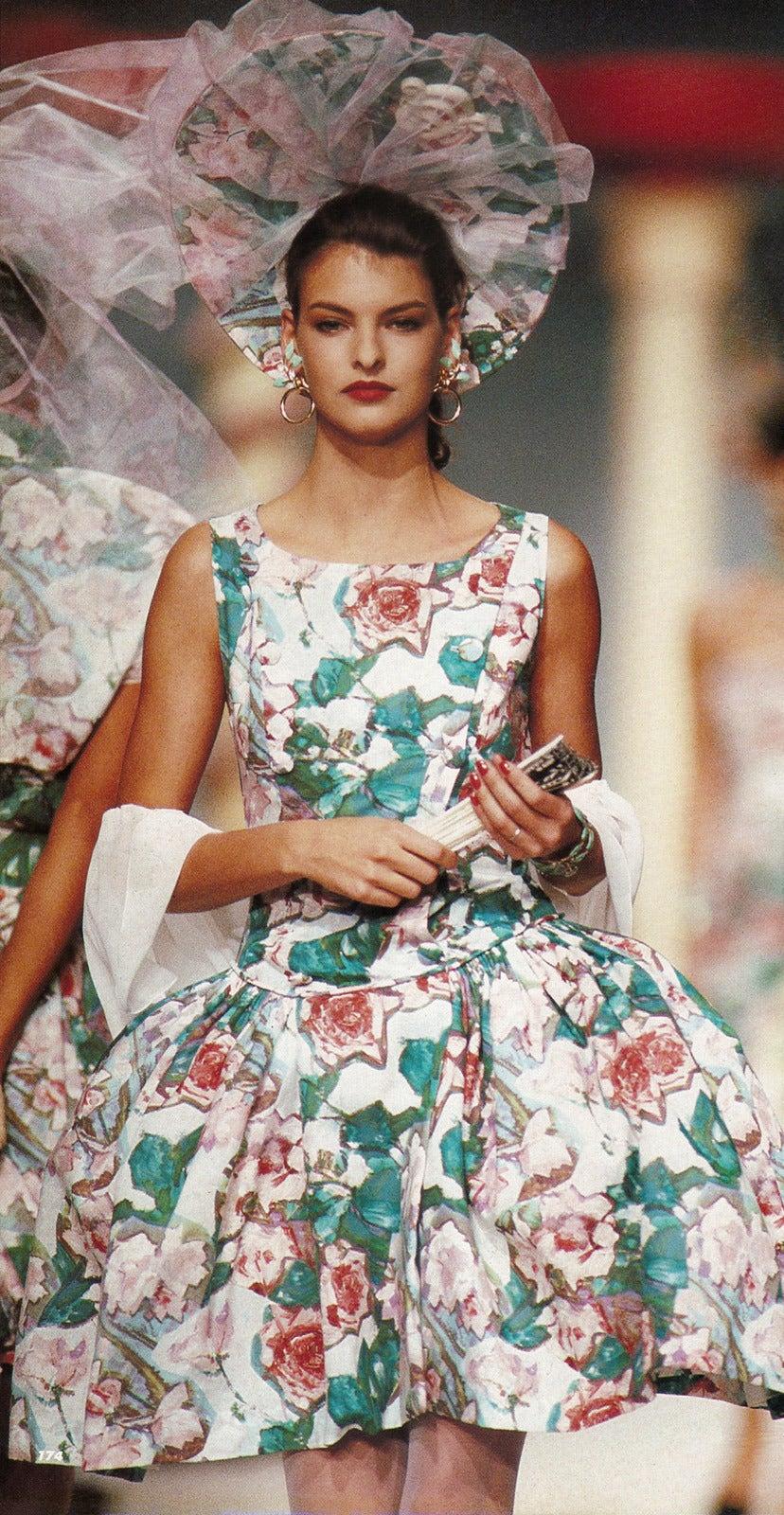 Iconic 1980s Karl Lagerfeld Marie Antoinette Dress S/S 1988 6