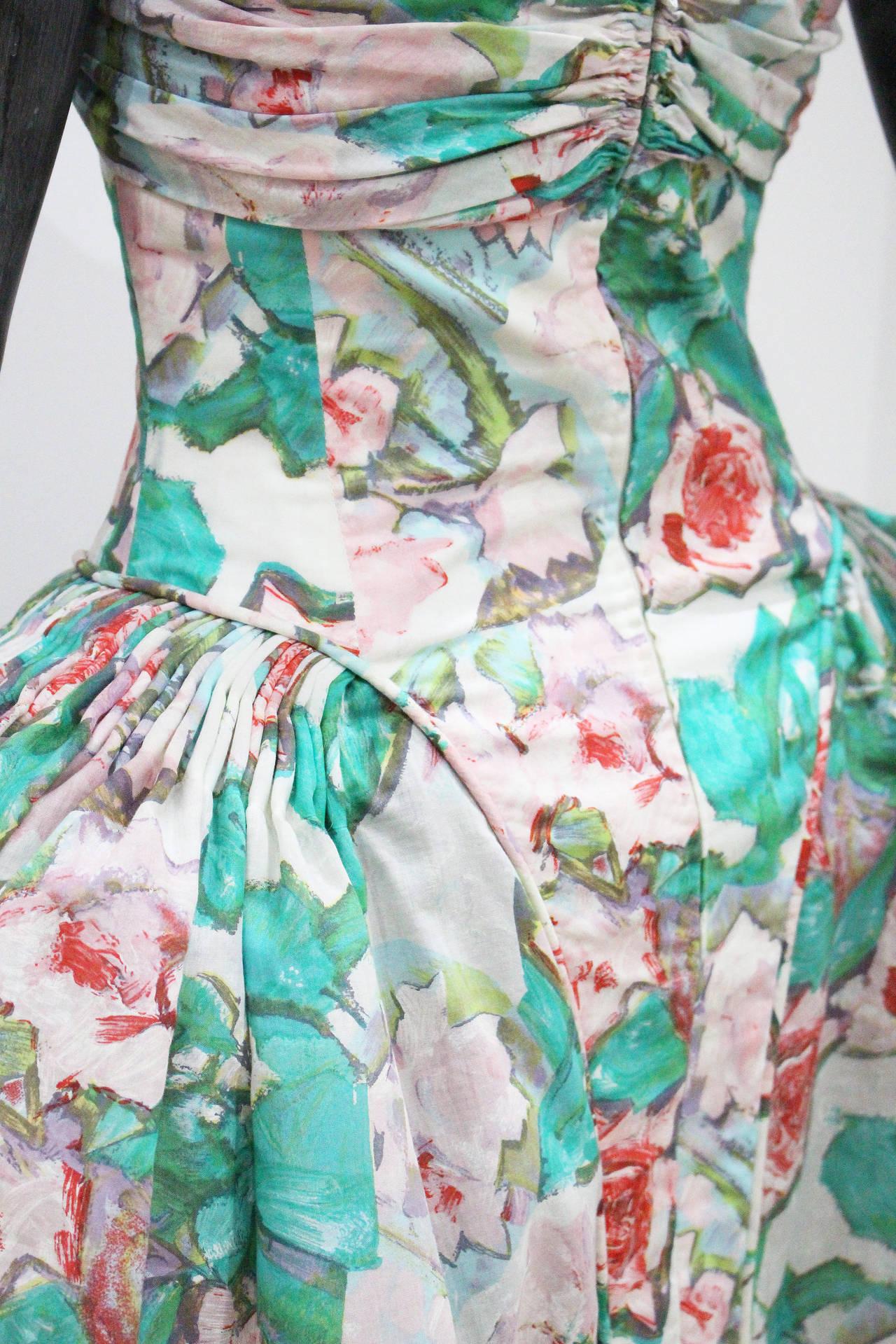 Iconic 1980s Karl Lagerfeld Marie Antoinette Dress S/S 1988 4