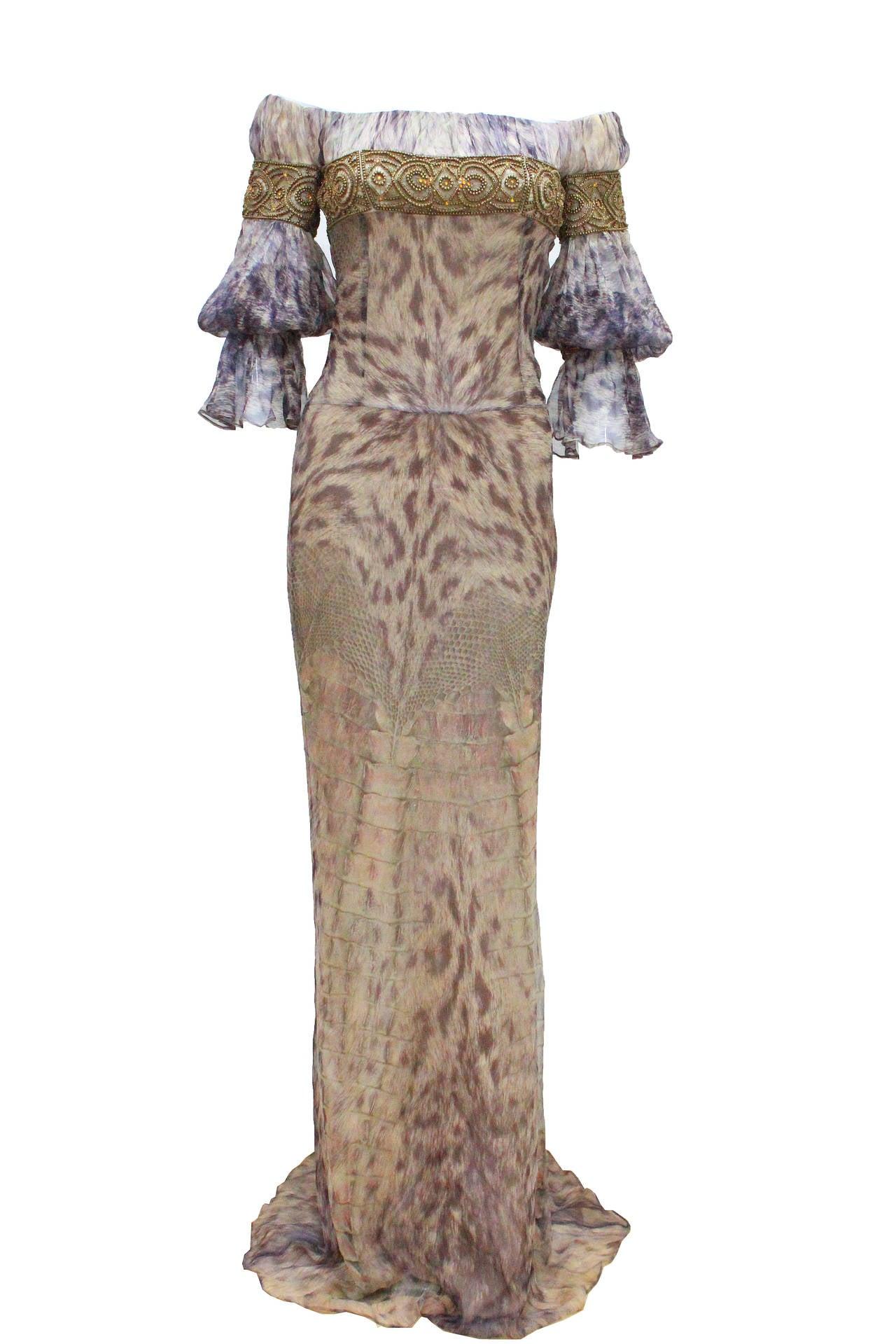 Alexander McQueen Celtic Dress / Fall 2004 For Sale