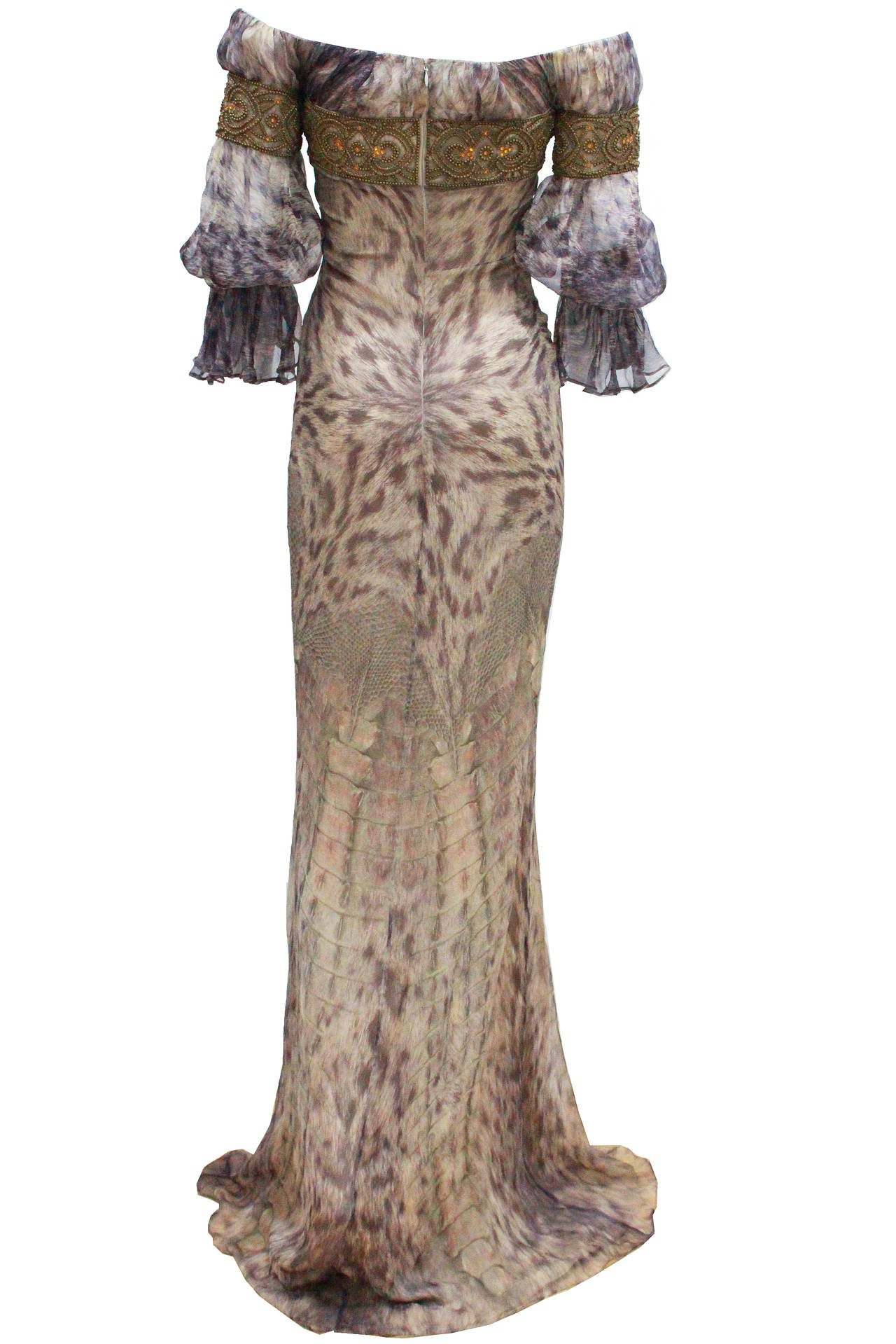 alexander mcqueen celtic dress fall 2004 for sale at 1stdibs. Black Bedroom Furniture Sets. Home Design Ideas