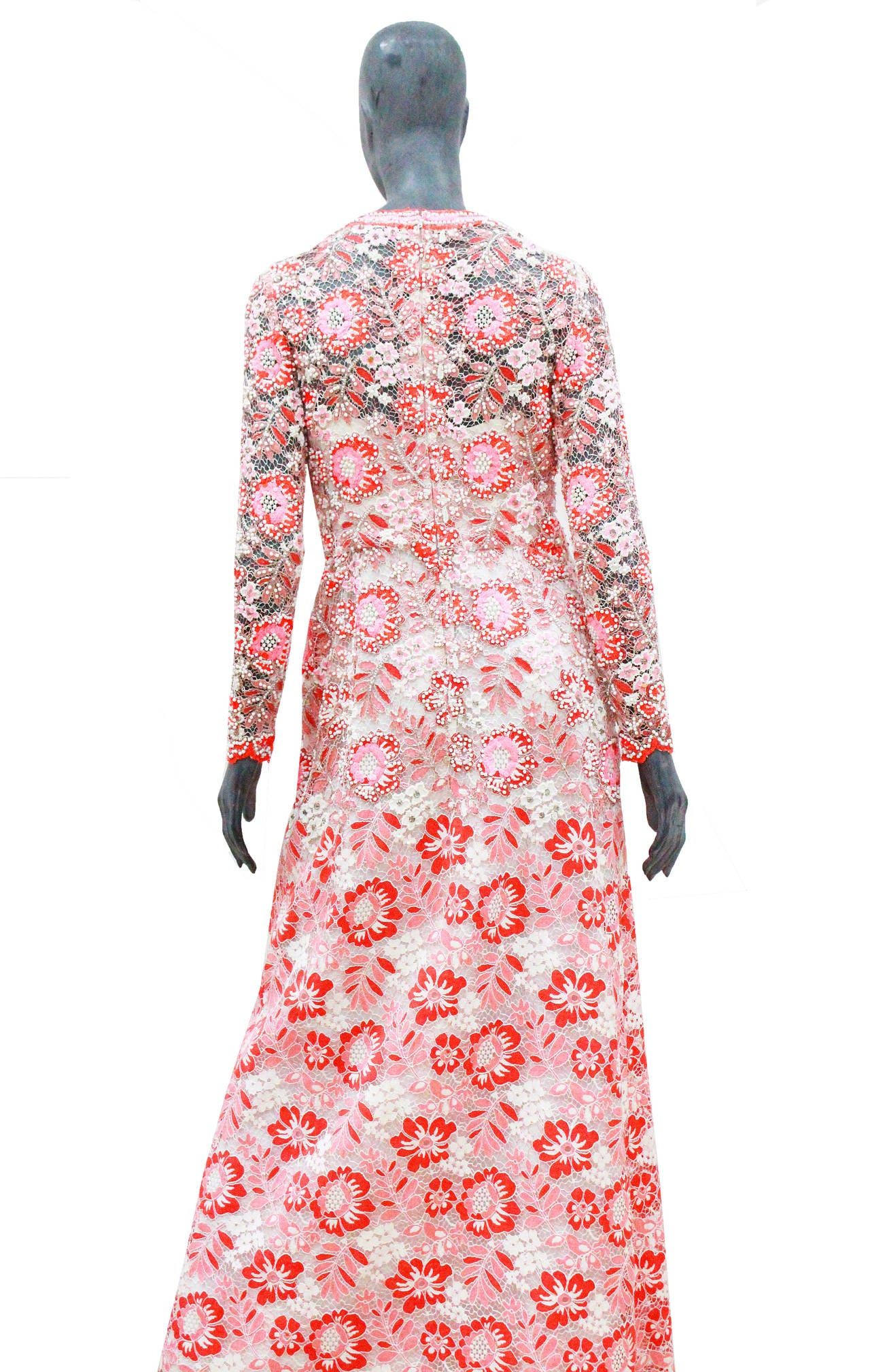 1960s haute couture harrods embroidered lace evening dress for 1960 s haute couture