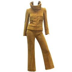 Museum BIBA c.1968 Corduroy Suit (Featured in Biba Catalogue by Sarah Moon)