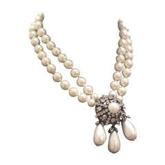 Fine and Rare Vintage Chanel Pearl Statement Necklace c. 1994