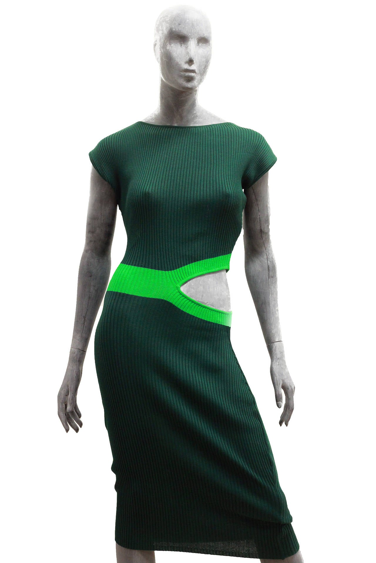 Jean Paul Gaultier EQUATOR COLLECTION Cut Out Bodycon Knit ...