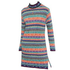 1970s Yves Saint Laurent knitted mini dress