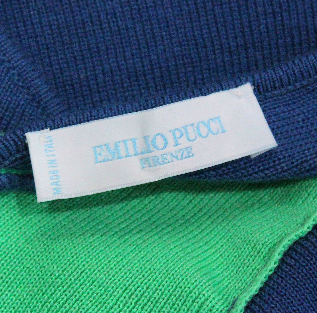 Emilio Pucci rib knit summer crop top. Circa 1990s 6