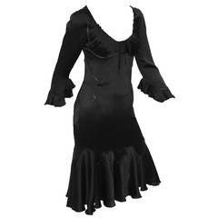 Alexander McQueen Silk Dress Fall 2002 Supercalifragilistic Collection