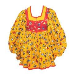 Rare 1960s Jeff Banks Micro Mini Cotton Dress