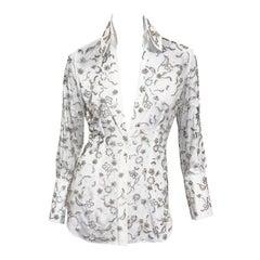 Fine and rare Dolce & Gabbana Swarovski Crystal Embellished Blouse