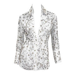 Fine and rare Dolce & Gabbana Swarovski Crystal Embellished Blouse
