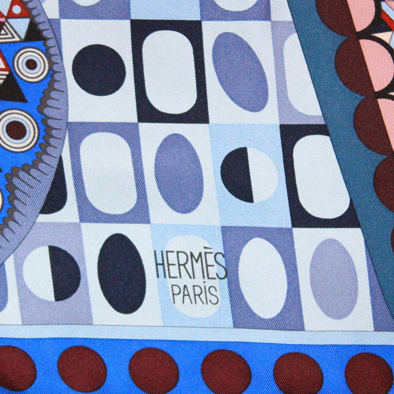 Hermes 'Les Ailes de la Soie' Hand Rolled Silk Scarf 3