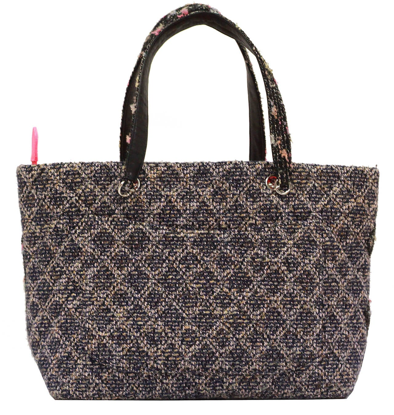 Quilted Chanel Tweed CC Cambon Large Shopper Tote 4