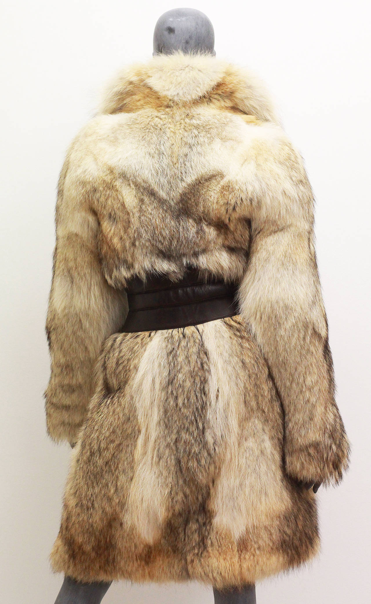 Fine and rare Alexander McQueen Corseted Coyote Fur Coat (Pre-Death) Circa 2006 3