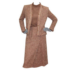 1970s Chic Tweed Chanel Suit Ensemble