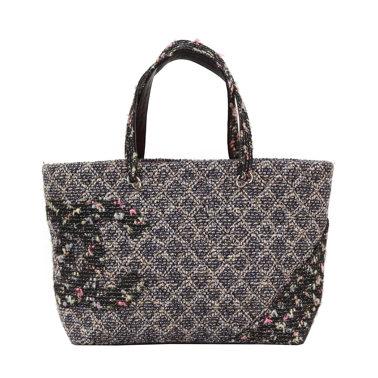 301c5944f118 Quilted Chanel Tweed CC Cambon Large Shopper Tote at 1stdibs