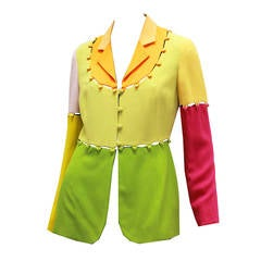 Rare Moschino Colour Block Puzzle Jacket, Circa 1980s