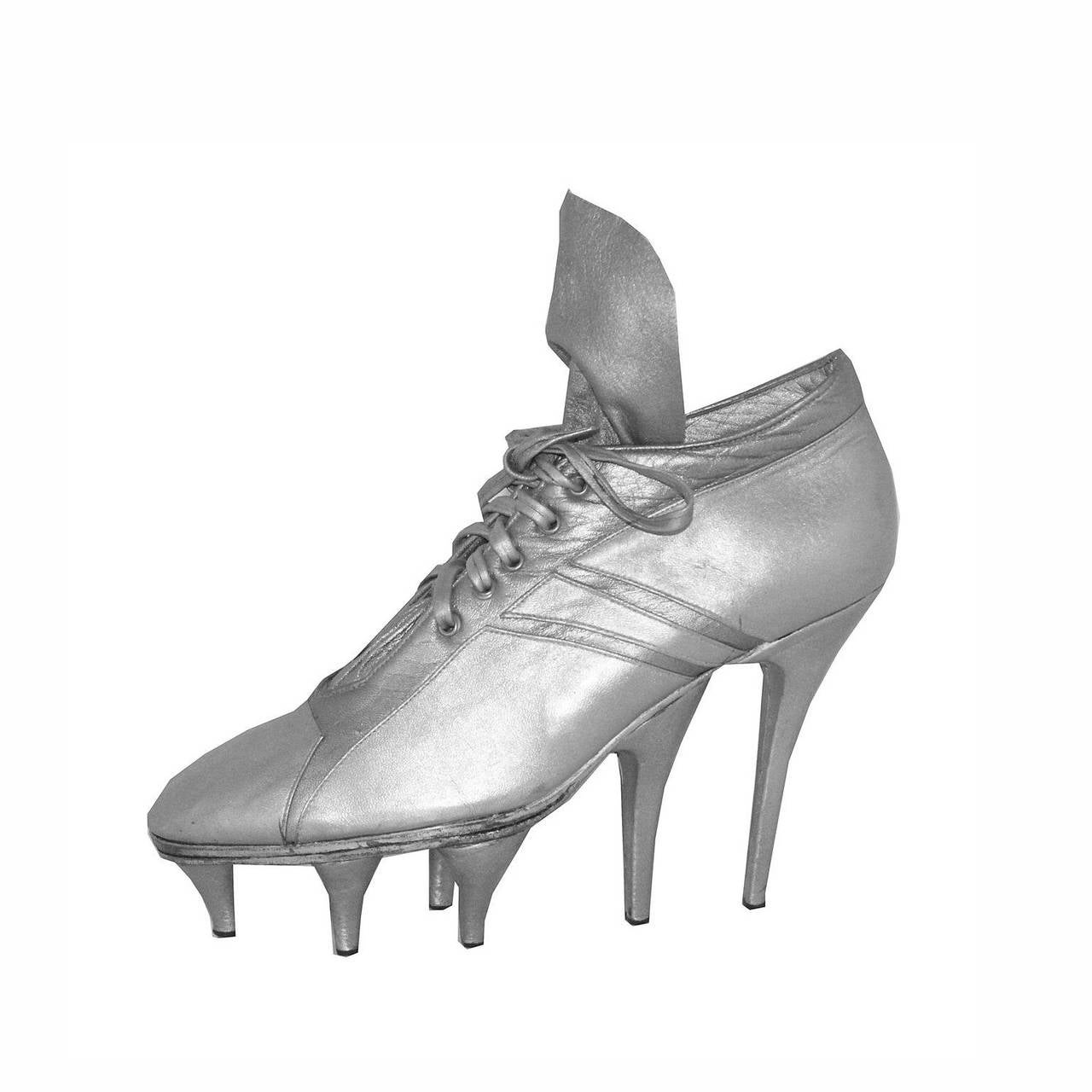 One of a Kind Jean Paul Gaultier x Massaro runway football boots c.1993 1
