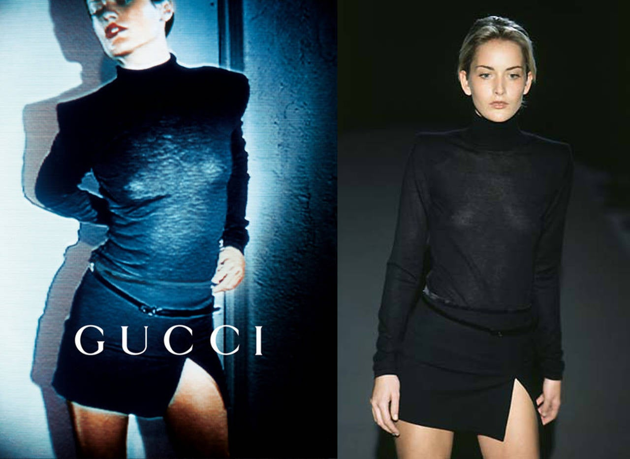 Iconic 90s Tom Ford for Gucci Little Black Dress c. 1997 2