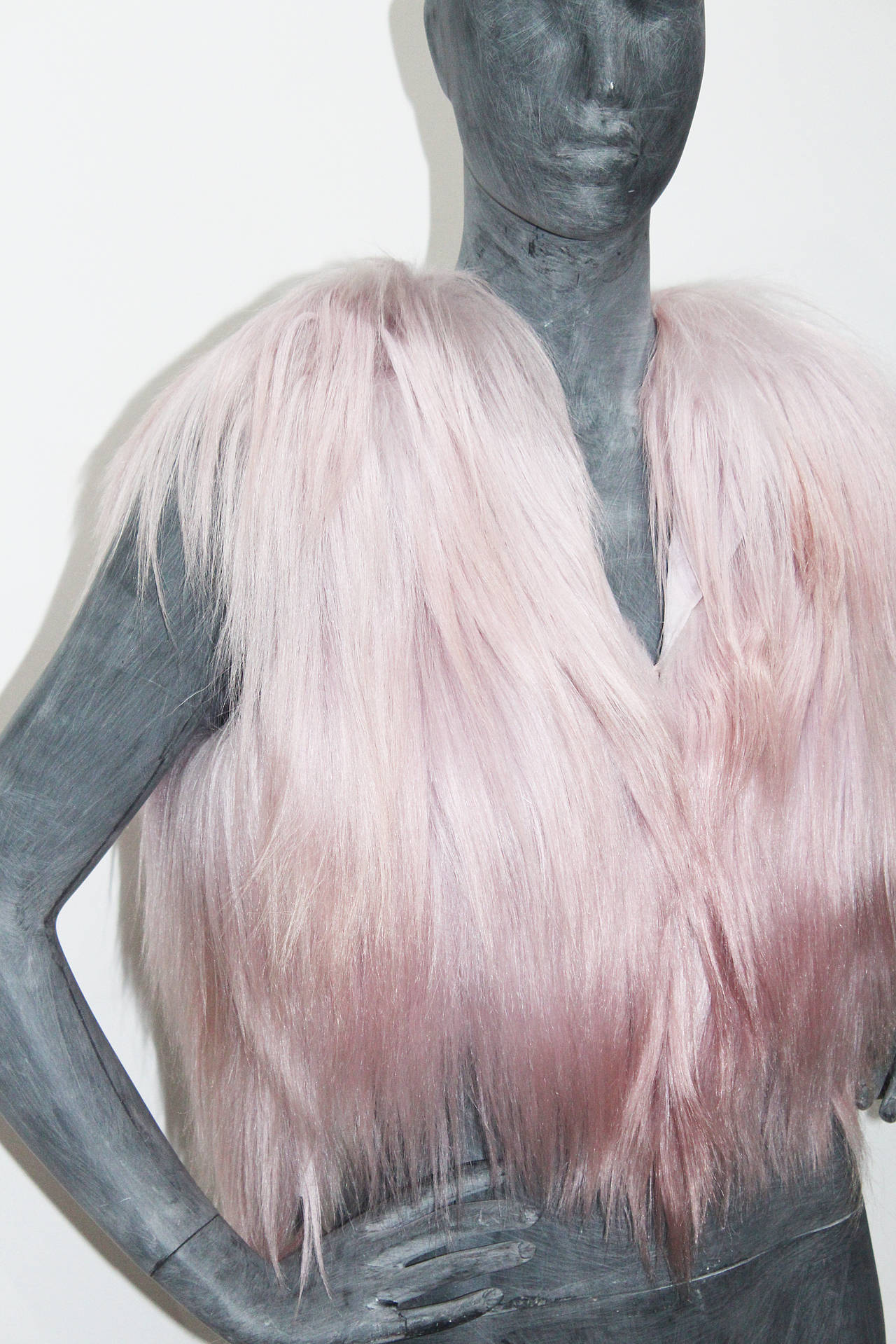 Christian Dior Dusty Pink Fur Gillet 3