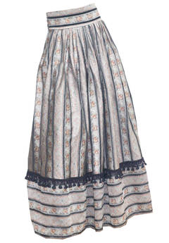 Zandra Rhodes Silk Brocade Full Evening Skirt (Autumn/Winter 1990)