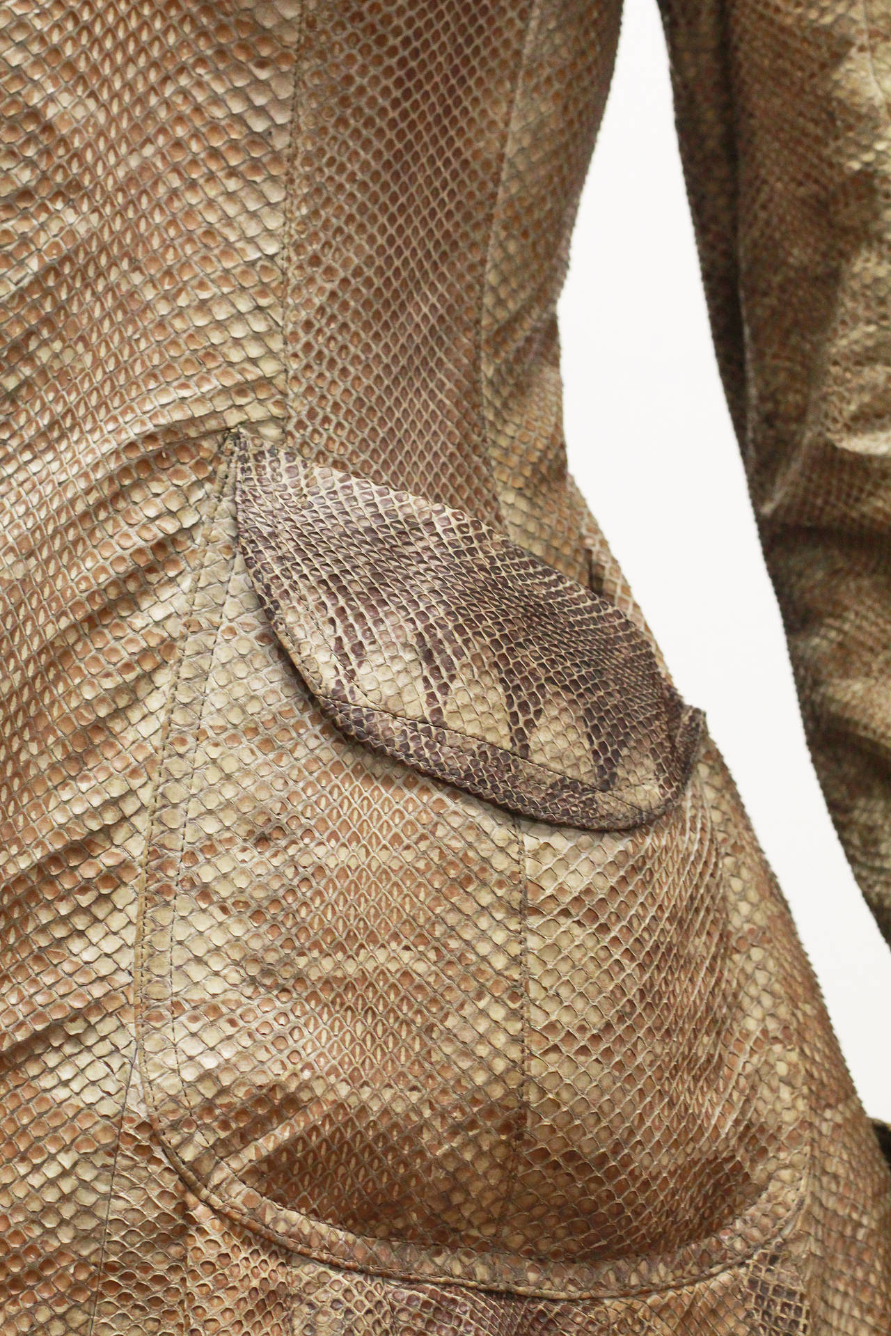 Brown Early and rare Ossie Clark Snakeskin Jacket c. 1966