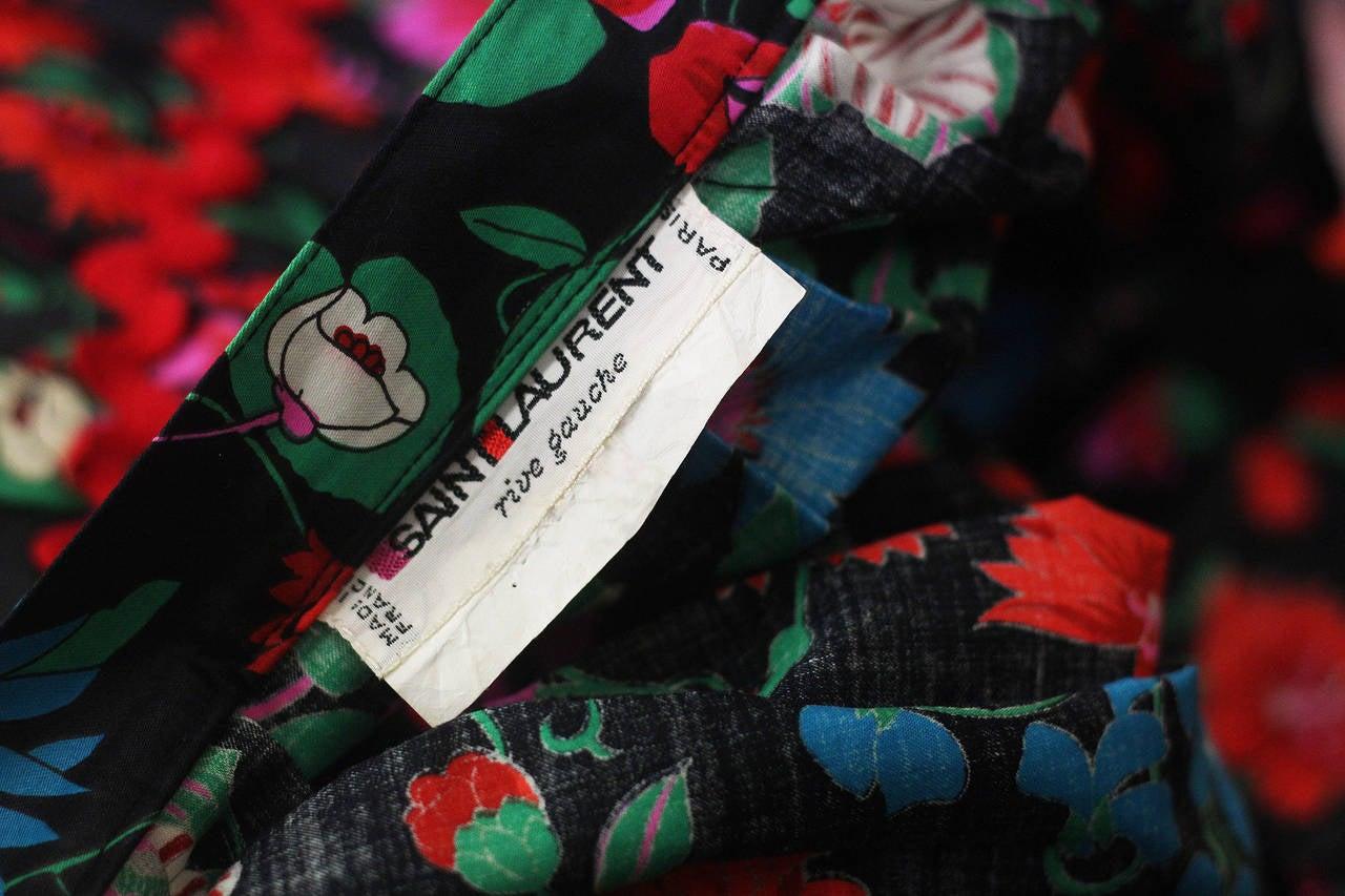 Women's 1970s Yves Saint Laurent Floral Gypsy Skirt For Sale