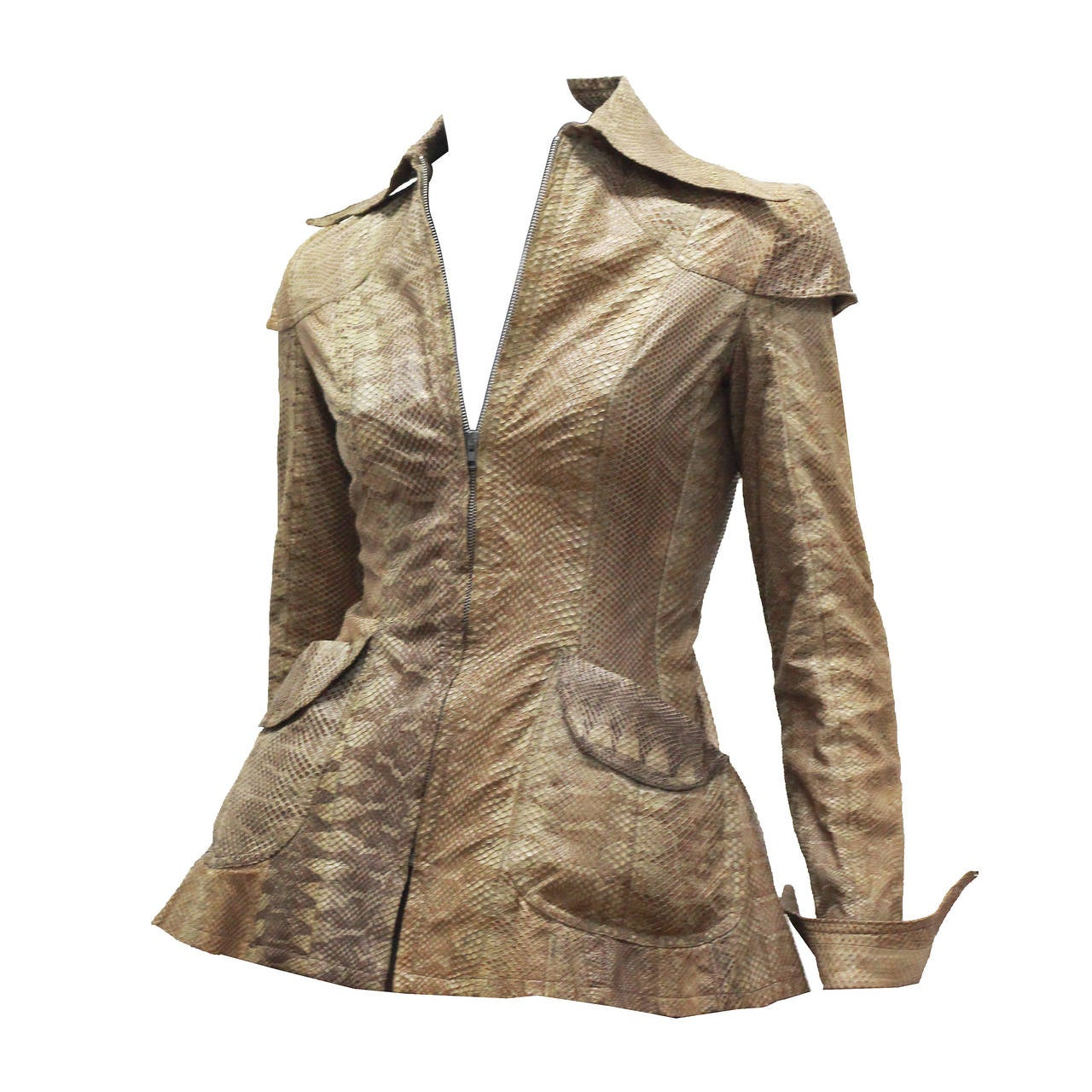 Early and rare Ossie Clark Snakeskin Jacket c. 1966