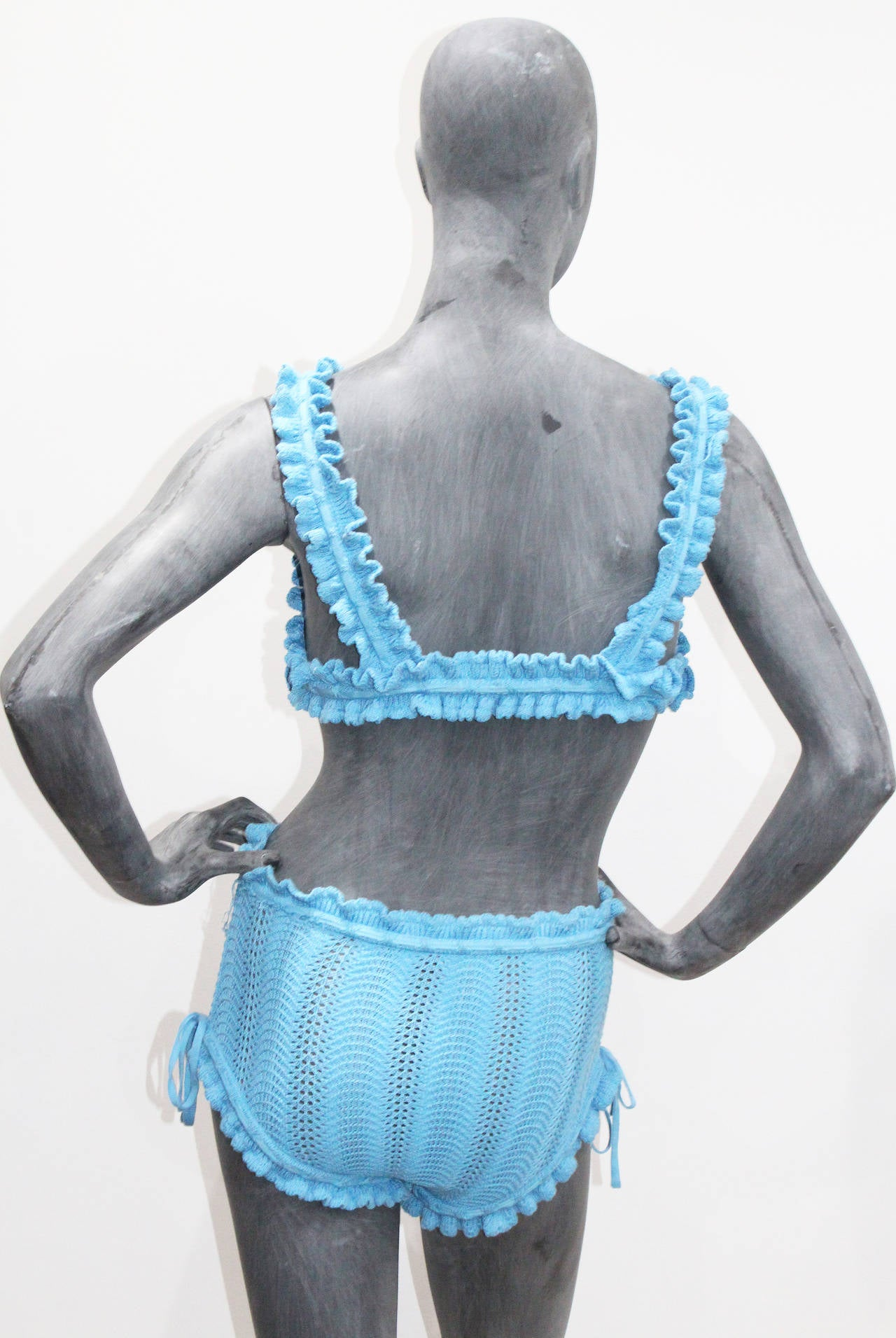 Fine And Rare Vivienne Westwood Crochet Knitted 2 Piece