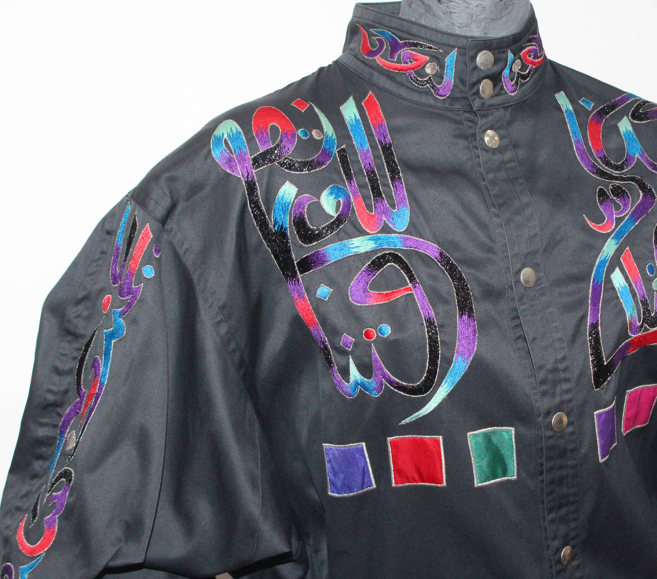 Fine and rare 1980s Kansai Yamamoto Embroidered Buddha Bomber Jacket 3