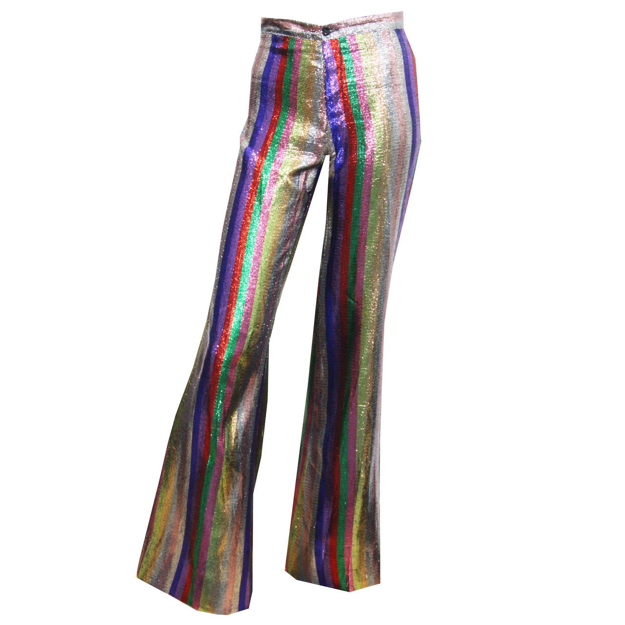 Late 1960s Metallic Flared Pants From The Alkasura Boutique, Kings Road, London 1