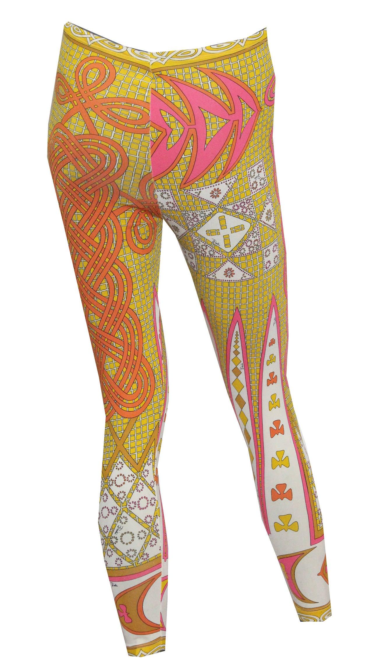 A Pair Of Original 1960s Emilio Pucci Leggings For Sale At