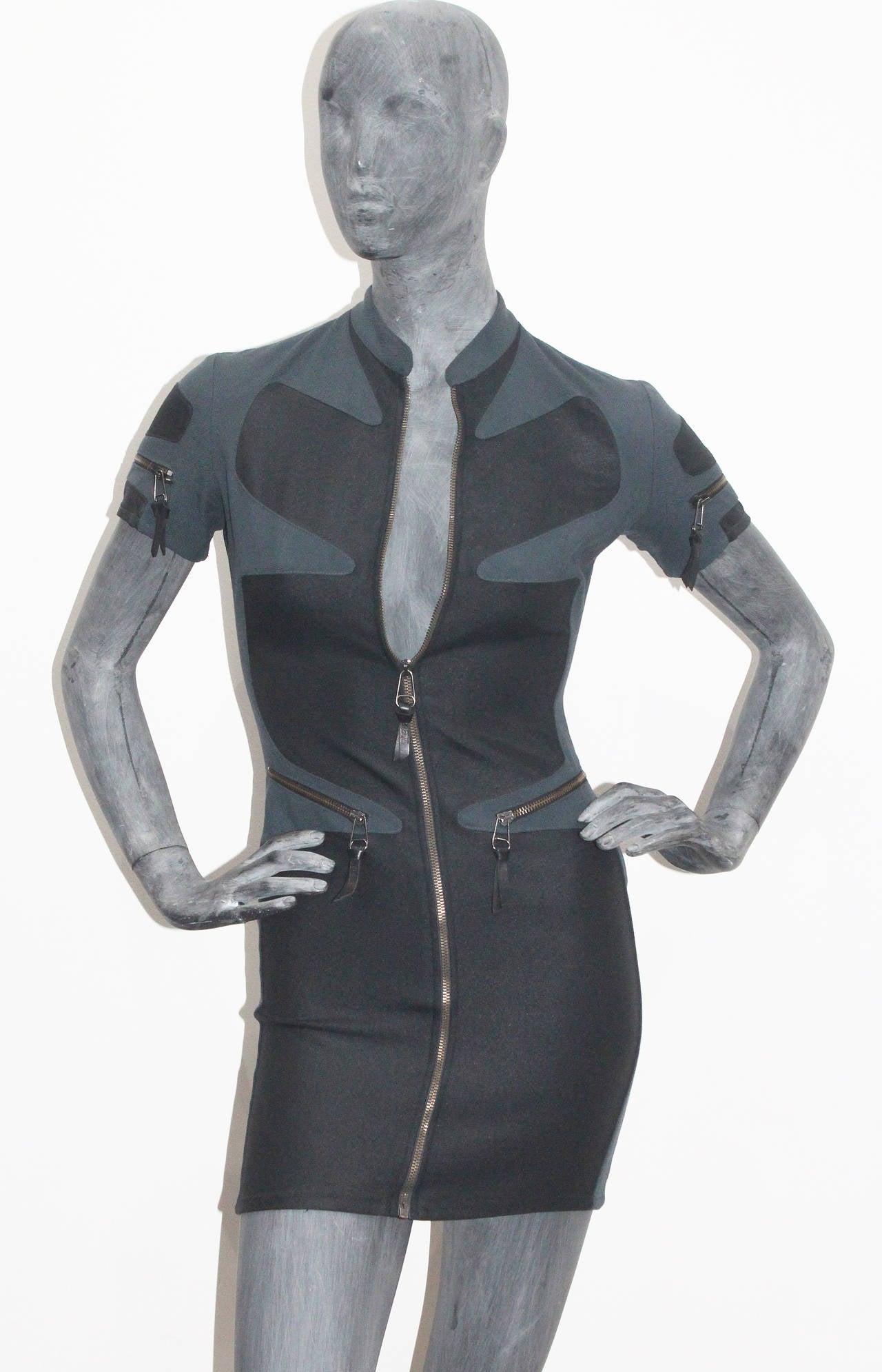 1990s Gianni Versace Versus Body Con Mini Dress 2