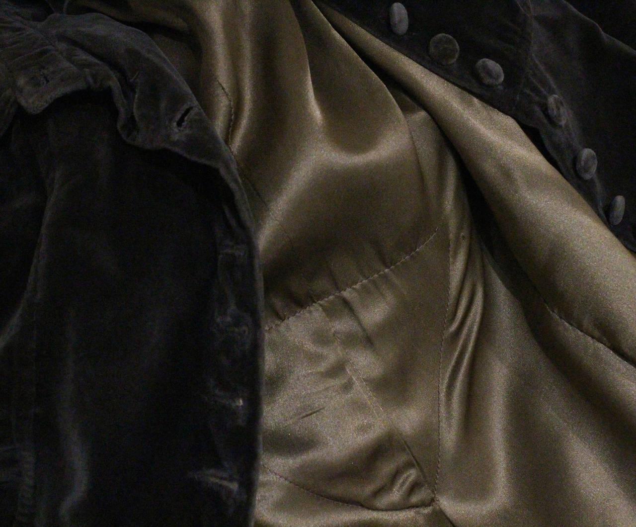 1960s Museum/Rare Early Ossie Clark Velvet Pleated Coat 6