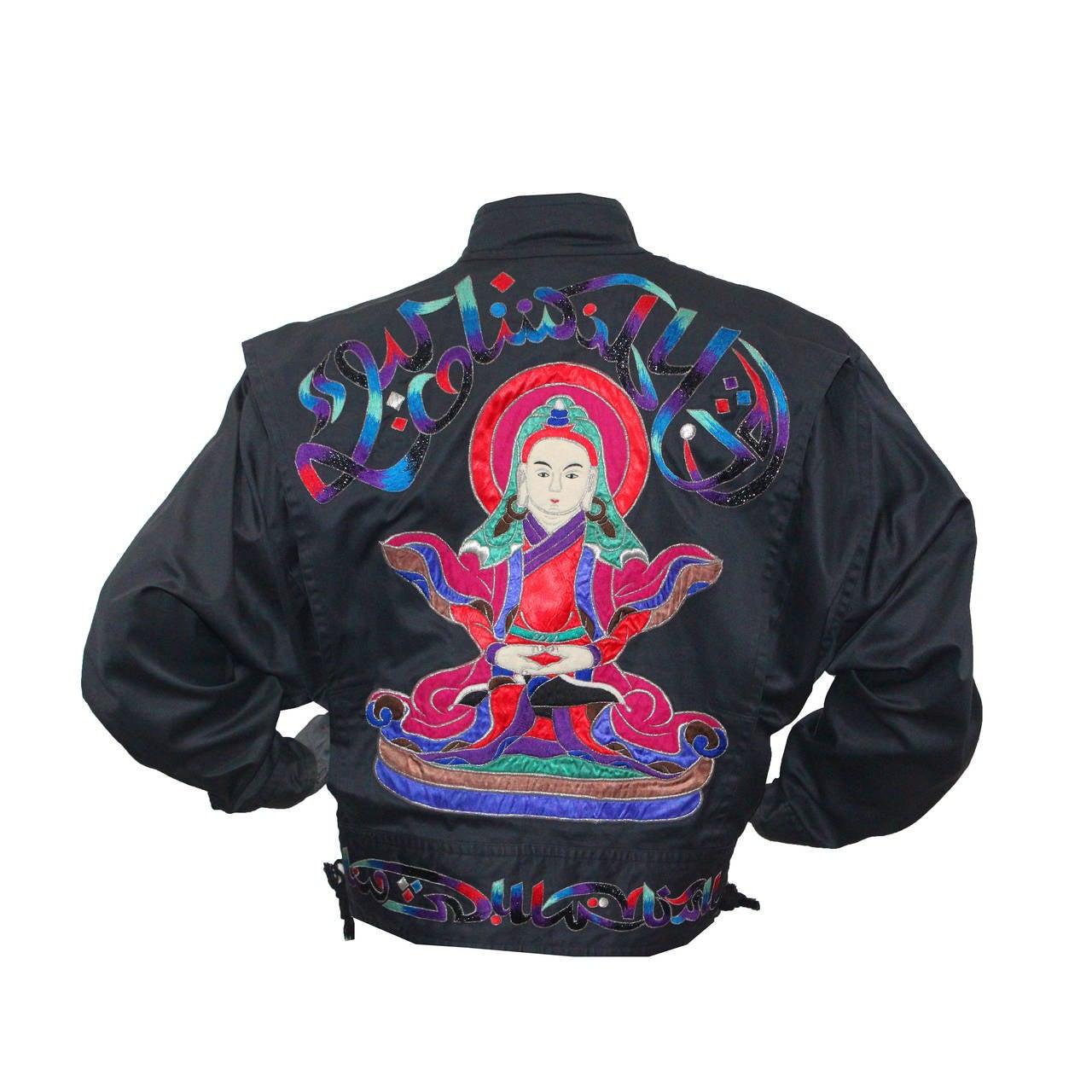 Fine and rare 1980s Kansai Yamamoto Embroidered Buddha Bomber Jacket 1