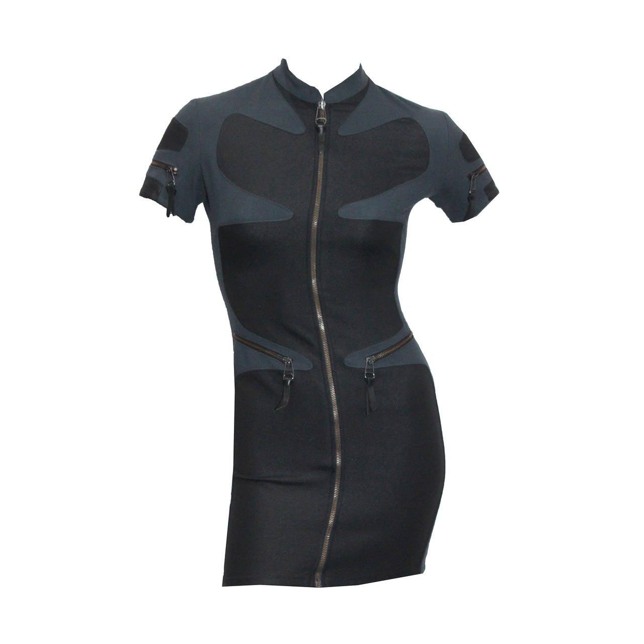 1990s Gianni Versace Versus Body Con Mini Dress 1