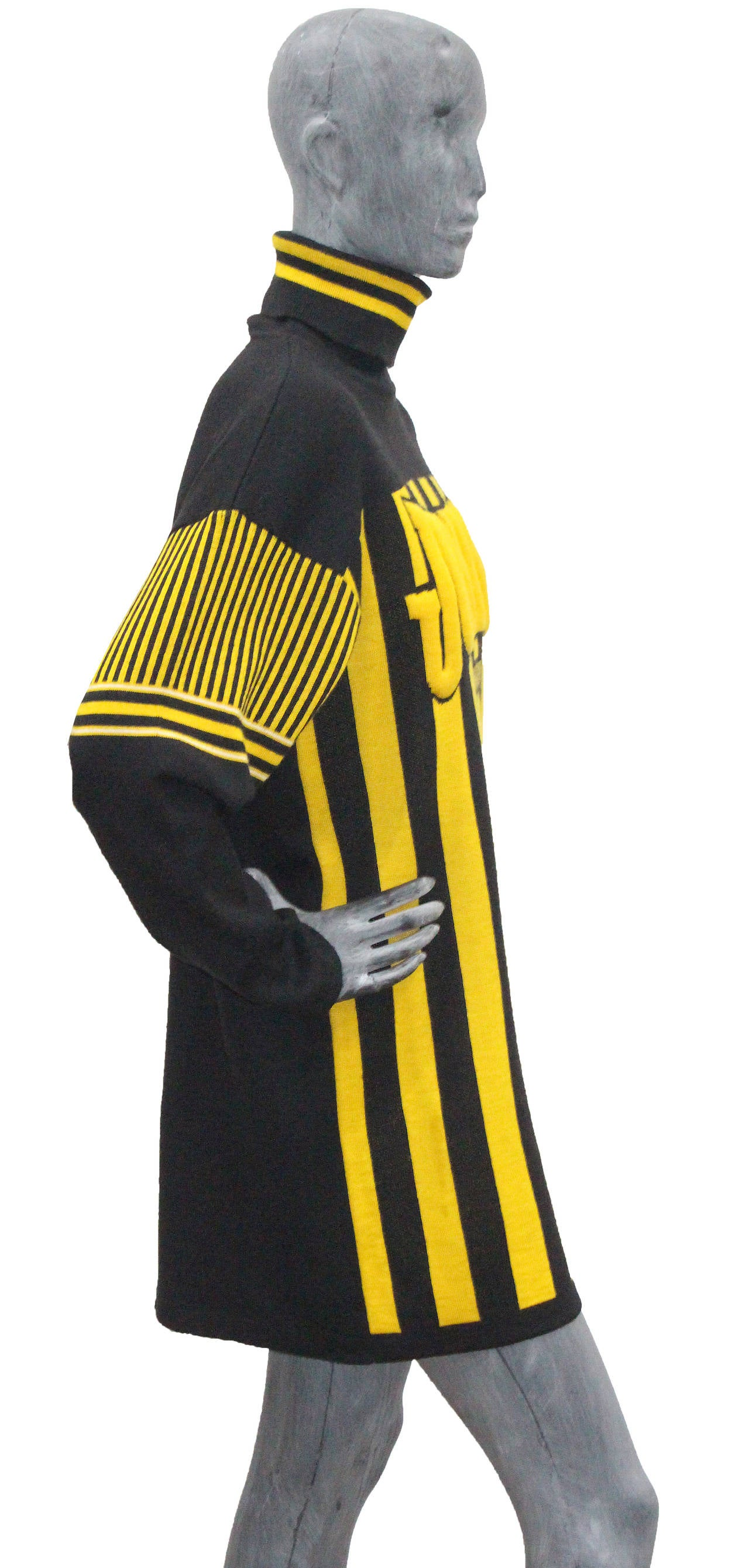 Women's A rare 1980s Jean Paul Gaultier Football Knitted Sweater Dress