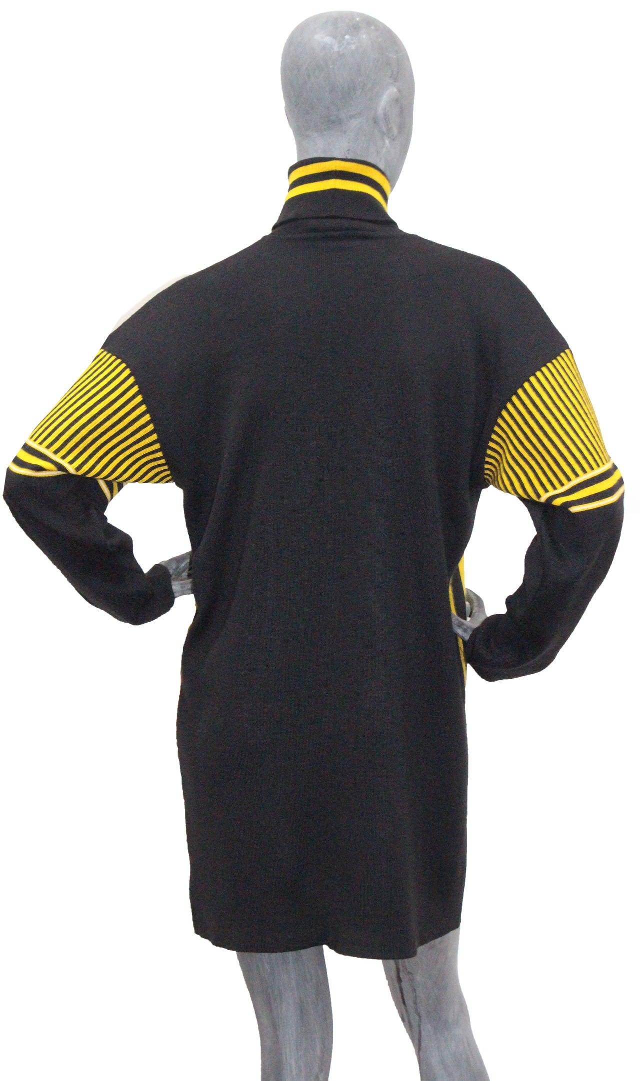A rare 1980s Jean Paul Gaultier Football Knitted Sweater Dress 1